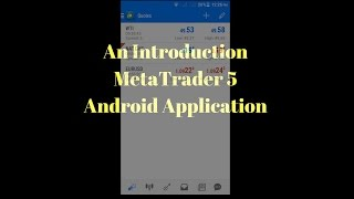 How to Use Metatrader 4 android Lots sell and buy Complete