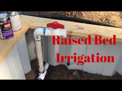 Raised Garden Bed Irrigation