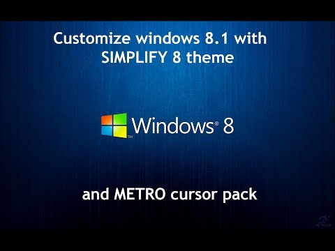 CUSTOMIZE windows 8.1| apply custom theme, cursor and icon packs.
