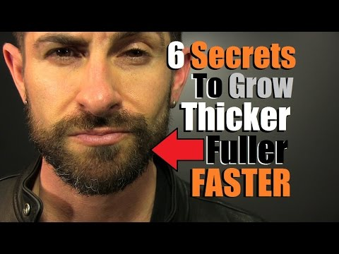 6 Secret Tricks To Grow Your Facial Hair THICKER, FULLER, FASTER | Beard Growth Routine