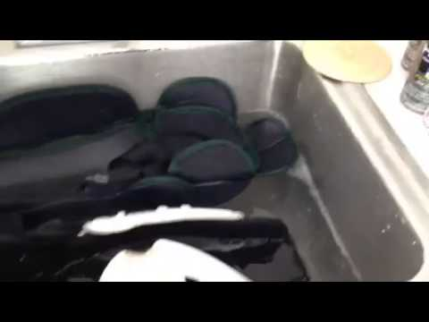 Hex- final rinse- hockey shin guard cleaning