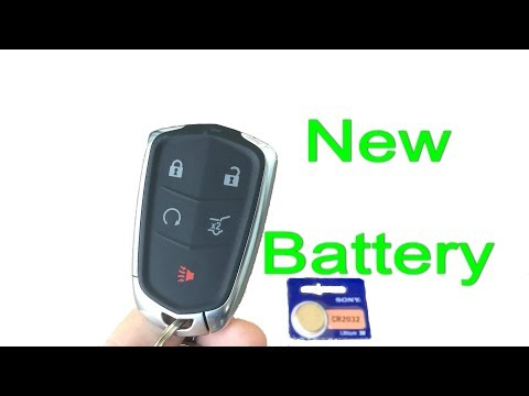 Cadillac key fob dead battery replacement on keyless remote 2014-2018