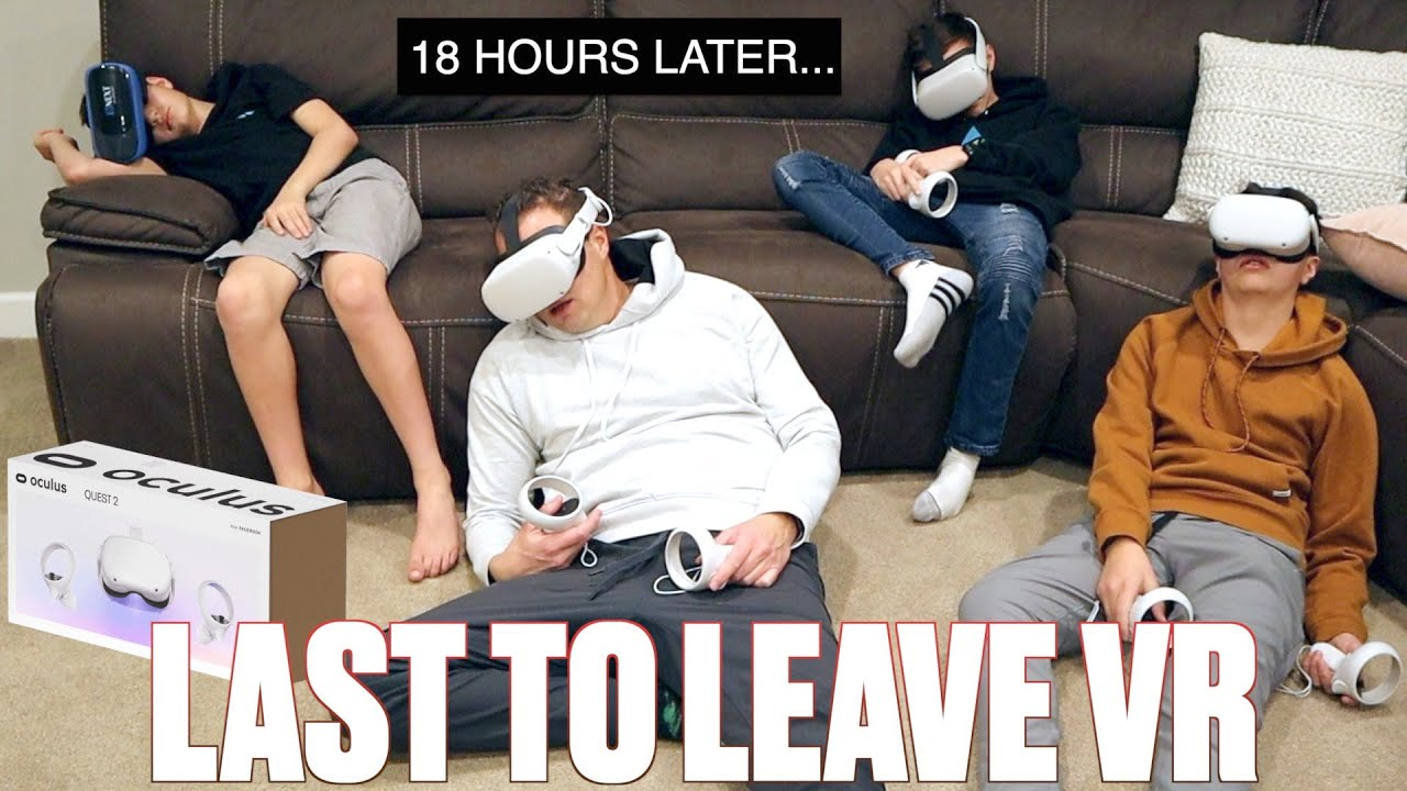 LAST TO LEAVE VIRTUAL REALITY WINS A BRAND NEW OCULUS QUEST 2 VR HEADSET | 24 HOUR VR CHALLENGE