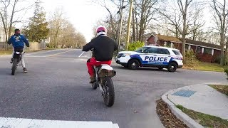 10 MINUTES OF POLICE vs BIKERS   POLICE CHASING DIRTBIKERS   ANGRY & COOL COPS