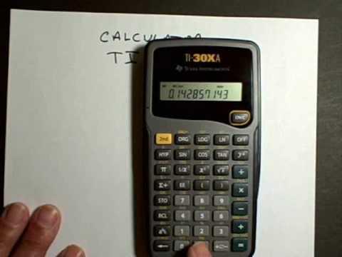 Calculator TI-30XA Part 1