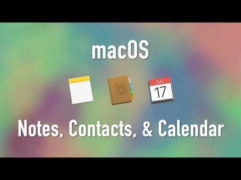 macOS: Notes, Contacts, and Calendar