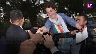 Priyanka Gandhi Marks Political Debut With Mega Roadshow in Lucknow With Rahul, Jyotiraditya Scindia
