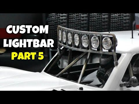 Custom 4x4 RC Trophy Truck Build - Part 5: Custom HID Lightbar
