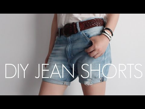 DIY // How to make ripped boyfriend jean shorts