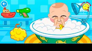 Babaápolás mese- Baba etetés, fürdetés, játék, altatás- Játékmesék