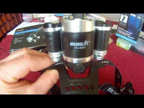 Boruit RJ-5000 head lamp review