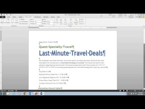 Word 2013 Unit 3 Video 3 - Change Line and Paragraph Spacing
