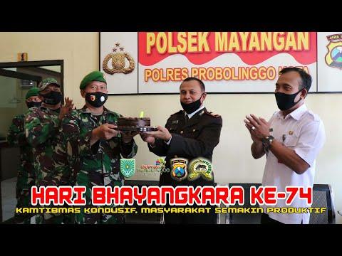 PERAYAAN HUT BHAYANGKARA 74 DI POLSEK MAYANGAN