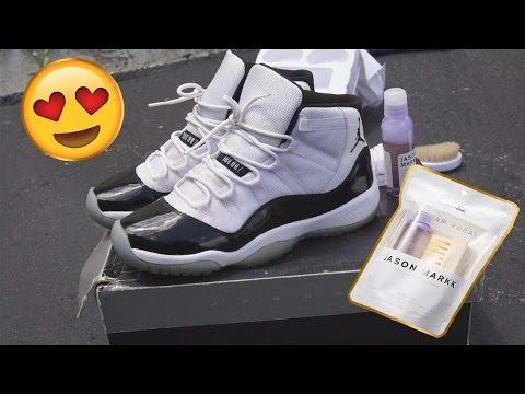 Jason Markk Shoe Cleaner on Jordan Retro 11's Concords