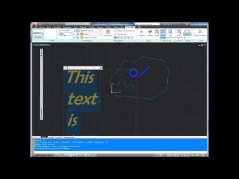 Autocad Tutorial; Basics Pt8 Add Text Using MText