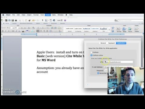 Install and turn on Cite While You Write for Apple users