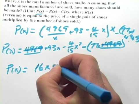 Calculus: Maximizing a Profit Function