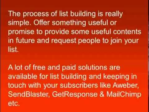 Learn how to start creating a mailing list & building your list immediately!