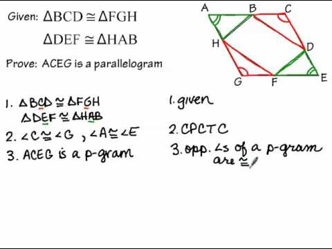 Proving a Quadrilateral is a Parallelogram