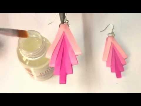Quilling earrings How to make waterproof Quilling earrings