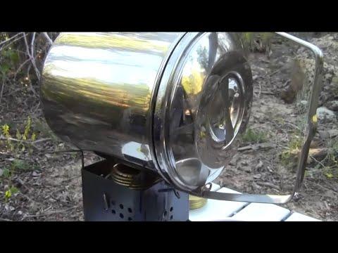 Ultralight Backpacking Stove Roasting A Whole Chicken!/Trangia/G2 Nano/Zebra Billy Bush Pot