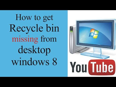 How to find missing recycle bin icon in windows