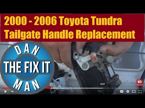 Tundra Tailgate Handle Replacement