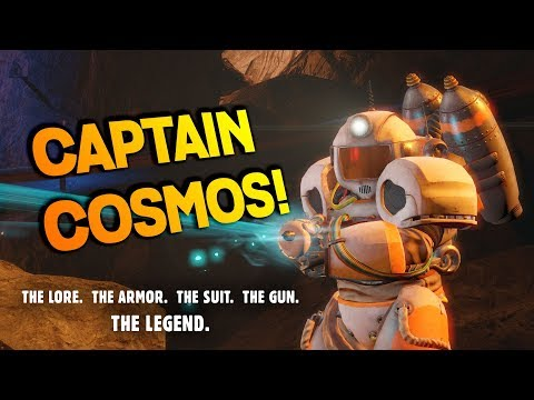 Captain Cosmos: The Lore, The Gun, The Power Armor, The Space Suit - Fallout 4 Creation Club