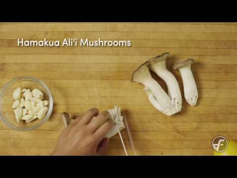 Sauteed Hamakua Ali'i Mushrooms
