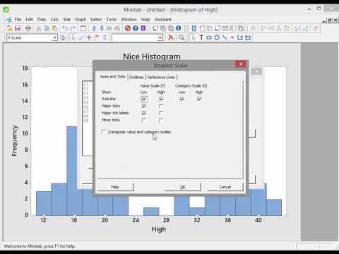 Minitab -  Video 6 - Histograms and Boxplots