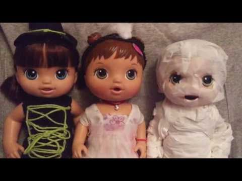 DIY Baby Alive Halloween Costumes! Mummy, Witch, Zombie Bride