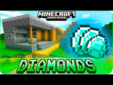 Minecraft PE Seeds - Village with DIAMONDS & Flat Land Seed for Building - MCPE 1.1 / 1.0