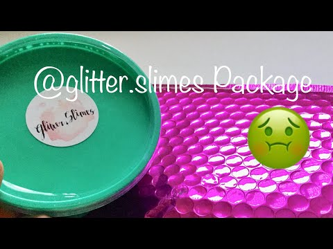 @glitter.slimes Package Almost Made Me THROW UP!!??