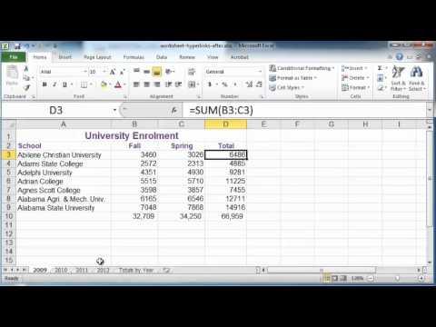 Excel tutorial: Creating hyperlinks in Excel 2010