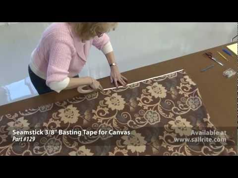 Sewing Panel Drapes with Tiebacks made from Sunbrella Furniture Fabric