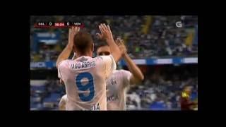 Iago Aspas Gol coa selección Galega en Riazor 20/05/2016