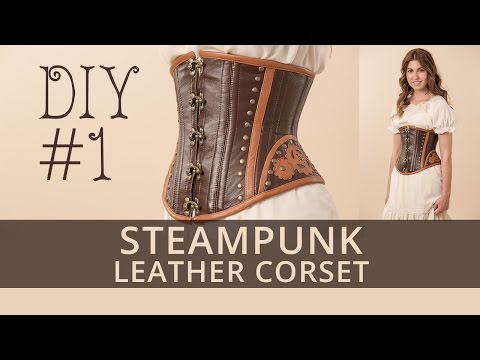 Steampunk corset DIY. How to sew steampunk under-bust corset? Tutorial 1