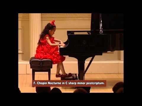 Harmony Zhu (age 7) - Carnegie Hall, Chopin Nocturne No. 20 in C sharp Minor, Posthumous