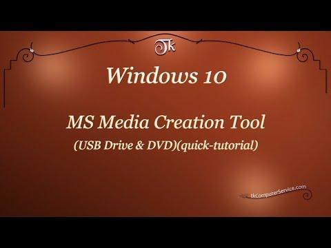 Windows : Media Creation Tool (Windows 10) (quick tutorial)