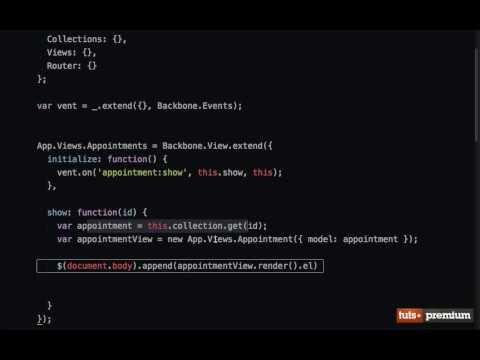 Backbone JS Triggering Custom Events - 19 tutsplus