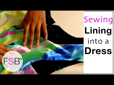 Sewing Lining into a Sleeveless Dress
