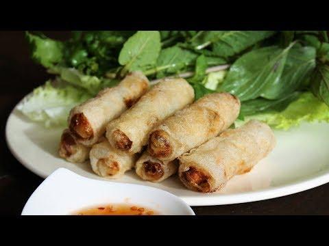 Vietnamese Chicken Crispy Spring Rolls - Morgane Recipes