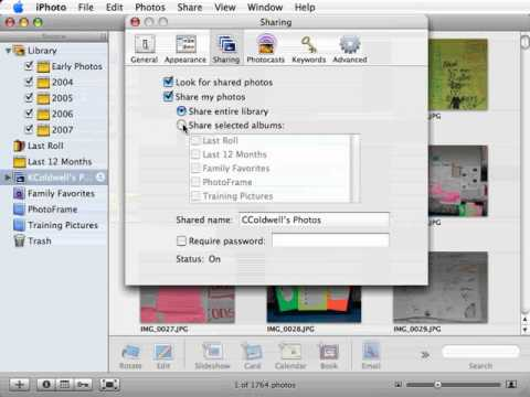 Sharing Photos on a Network iphoto Tutorial