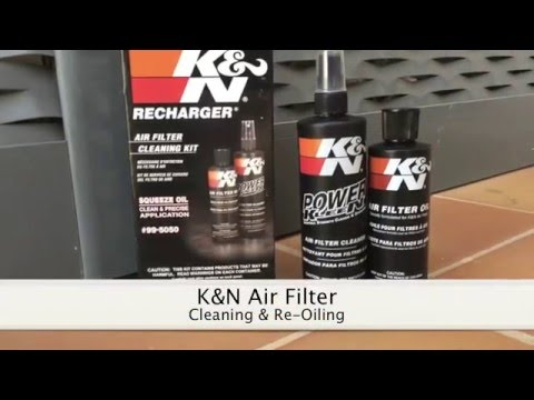 K&N Air Filter Cleaning