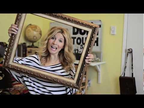 Mr. Kate DIY Framed Fabric Art Tutorial