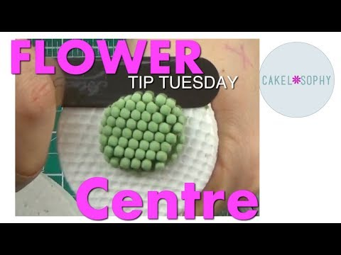 Making Gumpaste Flowers:  Scabiosa Flower  centre, quick and easy!