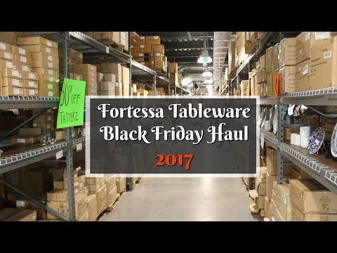 Fortessa Tableware Outlet Black Friday 2017 Sale & Haul ~ Restaurant Supply Black Friday VLOG