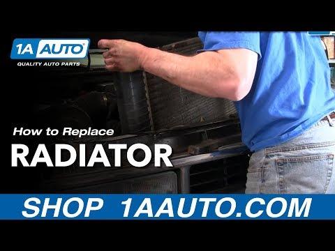 How To Install Replace Radiator Chevy Pickup Truck Tahoe Suburban GMC Yukon Part 1 1AAuto.com