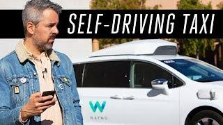 Riding a Waymo self-driving taxi