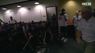 Jeff Brohm Throws Chair in Locker Room